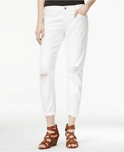 NWT Lucky Brand Women's Sienna Slim Ripped White Wash ...