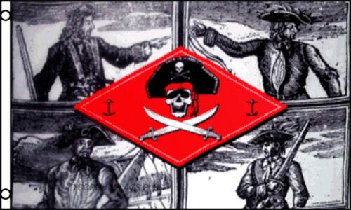 Pirate Captains Skull Cross Swords 3x5 Polyester Flag