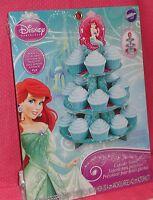 Ariel,little Mermaid, Cupcake/treat Stand,cardboard,wilton,teal 1512-4355
