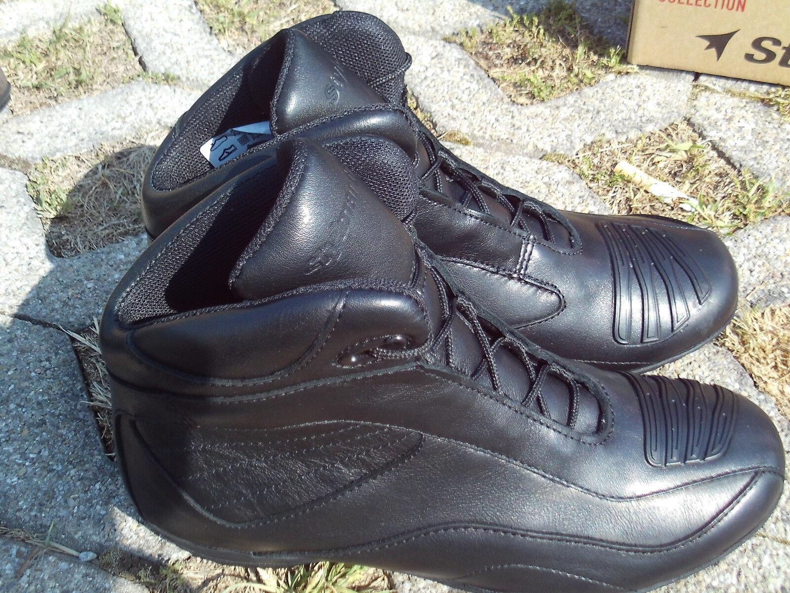Stylmartin Norwich High schwarz Motorrad Stiefel Freizeitschuhe Sneaker Größe 38