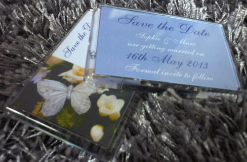 Save the Date x20 Fridge Magnets PERSONALISED Your choice of colours and Photo