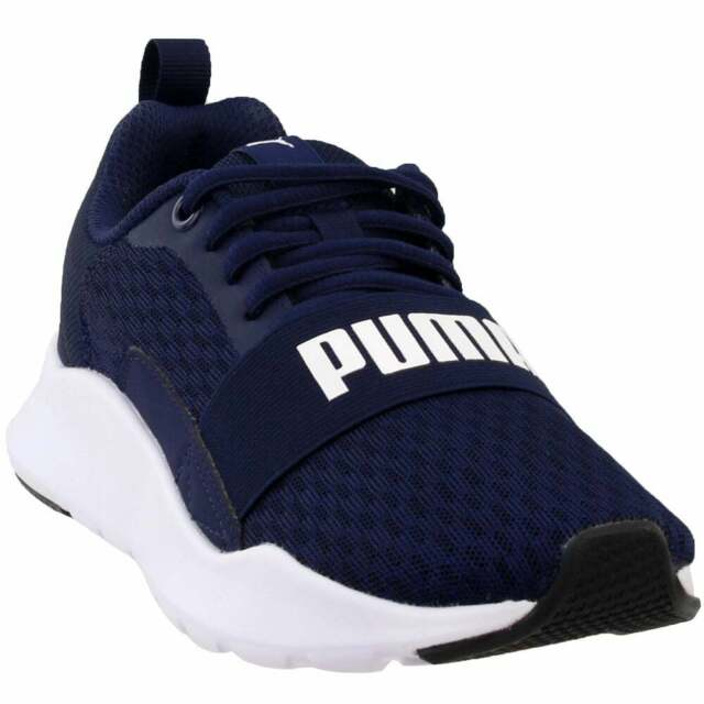 Puma Wired Lace Up Sneakers  Casual    - Navy - Mens