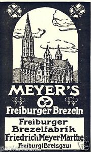 Friburgo BISCOTTO XL la pubblicità di 1926 cronologia Münster BISCOTTO fabbrica Meyer Marthe