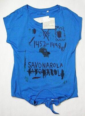 UNIQLO WOMEN  JEAN-MICHEL Basquiat Front Ribbon Short Sleeve T-Shirt Blue 077607