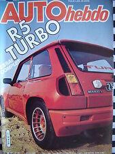 auto hebdo 1980 RENAULT 5 TURBO / RALLYE ANTIBES / LIGIER F1 /  24 H DU MANS