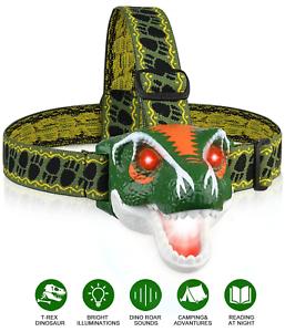 PROJECTEUR DEL PHARE T-Rex Tête Torche Dinosaure Jouets DEL projecteur Lampe de poche 3