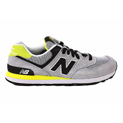 Scarpe Donna Junior Uomo New Balance ML 574 CPJ Sneakers Suede Mesh Grigio Nero