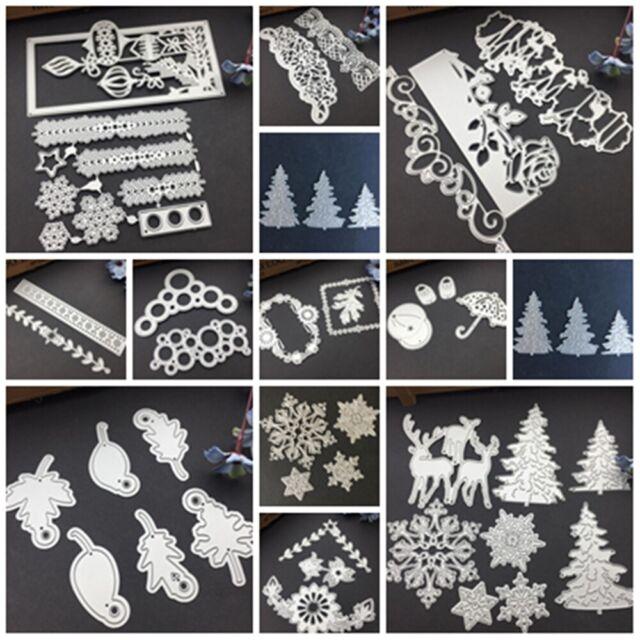 Familie Weihnachten Stanzformen Metallschablone DIY Scrapbooking Album Papierka