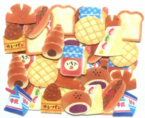 Bread Flake Sticker 40 Food Sandwich Chocolate Curry Red Bean Jam MADE IN JAPAN