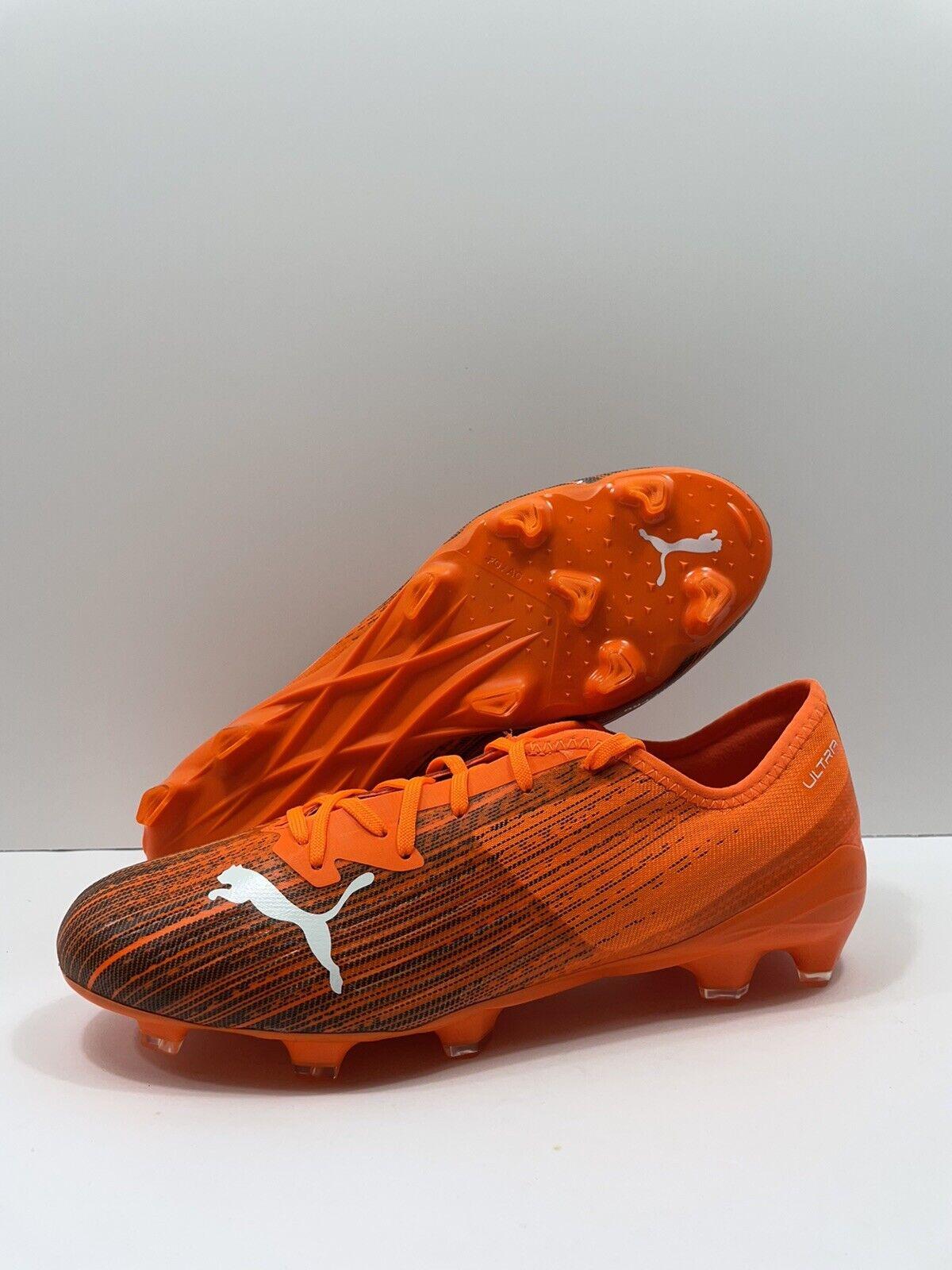 Men Football BOOTS PUMA Ultra 2.1 FG AG 106080 01 Orange Soccer ...