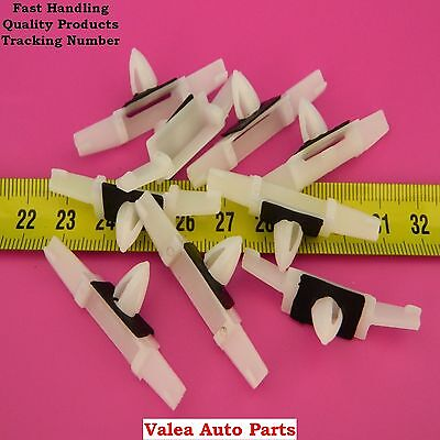 10 Pieces Drip Rail Moulding Clip, White for Honda Acura OEM# 91528-SR4-003