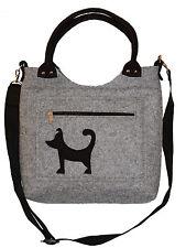 Perrito Perro oo Bolso en fieltro de lana hecho a mano cinturón mosqueton