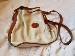 Details about TJW by Mervyn s leather w.white vintage leather drawstring  purse 98f92f015779d