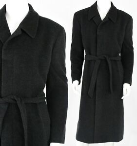 Mens-42R-Bachrach-Cashmere-Belted-Coat-Overcoat-Size-L-Coat