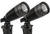 Moonrays 95557 Led Outdoor Landscape Metal Spot Light Fixture, 2-pack, Black, 1- on sale