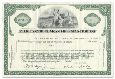 American Smelting and Refining Company Stock Certificate