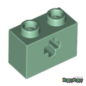 Lego Technic 6x Kreuz Loch Stein 1x2 Sand Grün Green Brick with Hole 32064 Neu