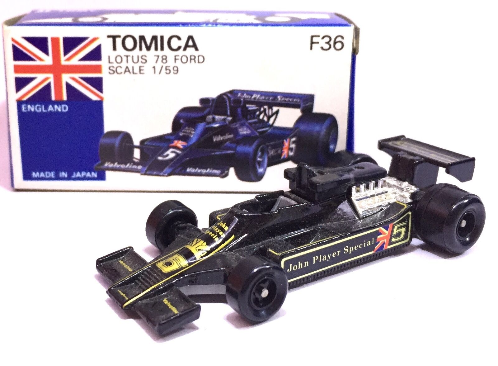 MADE IN JAPAN TOMY TOMICA F36 LOTUS 78 FORD RACING JOHN PLAYER 1 59 DIECAST CAR