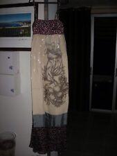 Robe longue bustier pinko voile fleur mariage soie