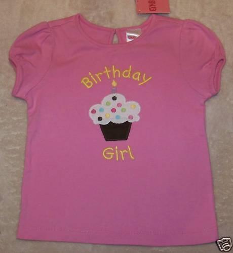 NWT Gymboree BIRTHDAY GIRL 09 Pink Cupcake TOP 18-24 mo