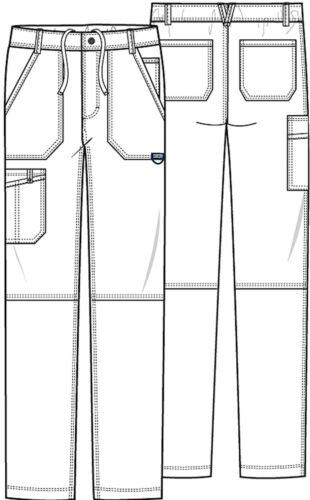 Grey Cherokee Scrubs Workwear Revolution Mens Fly Front Pants WW140 GRY