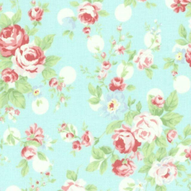 Fabulous Cottage Shabby Chic Lecien Princess Rose Floral 31265L 70 Blue W Dots Bty Download Free Architecture Designs Boapuretrmadebymaigaardcom
