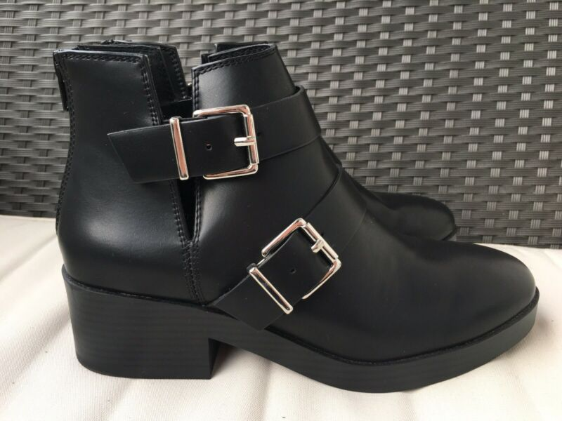 FleißIg Pull & Bear Damen Schuhe Stiefeletten Ankle Boots Gr. 39 Schwarz Neu