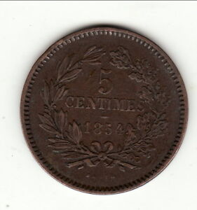 LUXEMBOURG-RARE-5-CENTIMES-1854