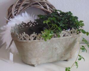 Frankreich Ubertopf Blumenkubel Jardiniere Grau Antikisiert Shabby
