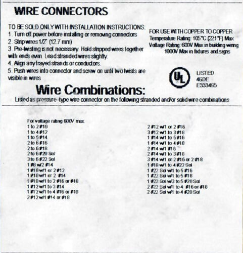 100 Large Tan Winged Twist Screw On Electrical Wire Spring Connectors 8-22 AWG