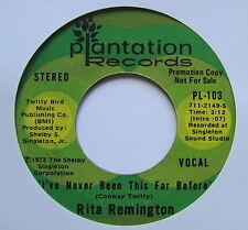 """RITA REMINGTON - Days Of Autum Gold - Excellent Con 7"""" Single Plantation PL-114"""