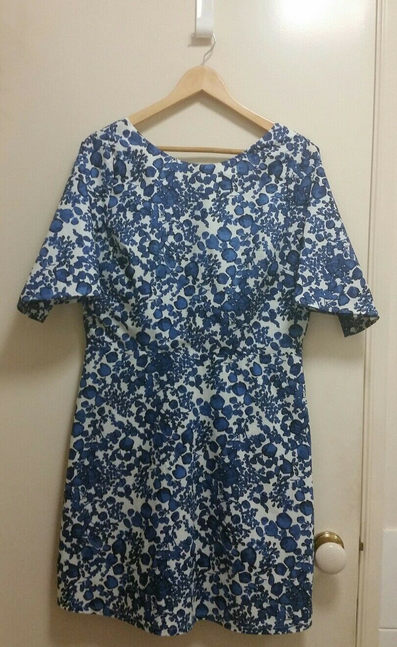 NEW Cluster leaves Sheath Dress, size 14