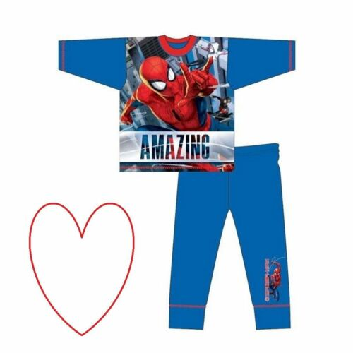 Ragazzi Spiderman PJ /'S Pigiama Set Giarrettiera regalo SuperHero Pigiama