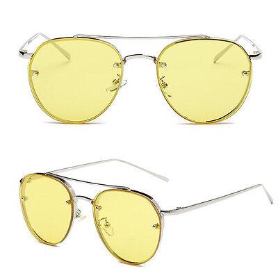 HOT Large Oversized Cat Eye Sunglasses Women Flat Mirrored Lens Metal Frame