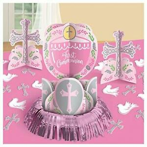 Details About First Communion Table Centerpiece Party Decoration Religious Ceremony Dove Cross