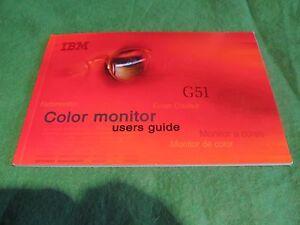 Intelligente Ibm-couleur G51 Moniteur-utilisateurs Guide-afficher Le Titre D'origine Lustre Brillant