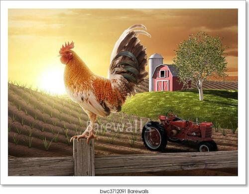 G Country Farm Morning Art Print Home Decor Wall Art Poster