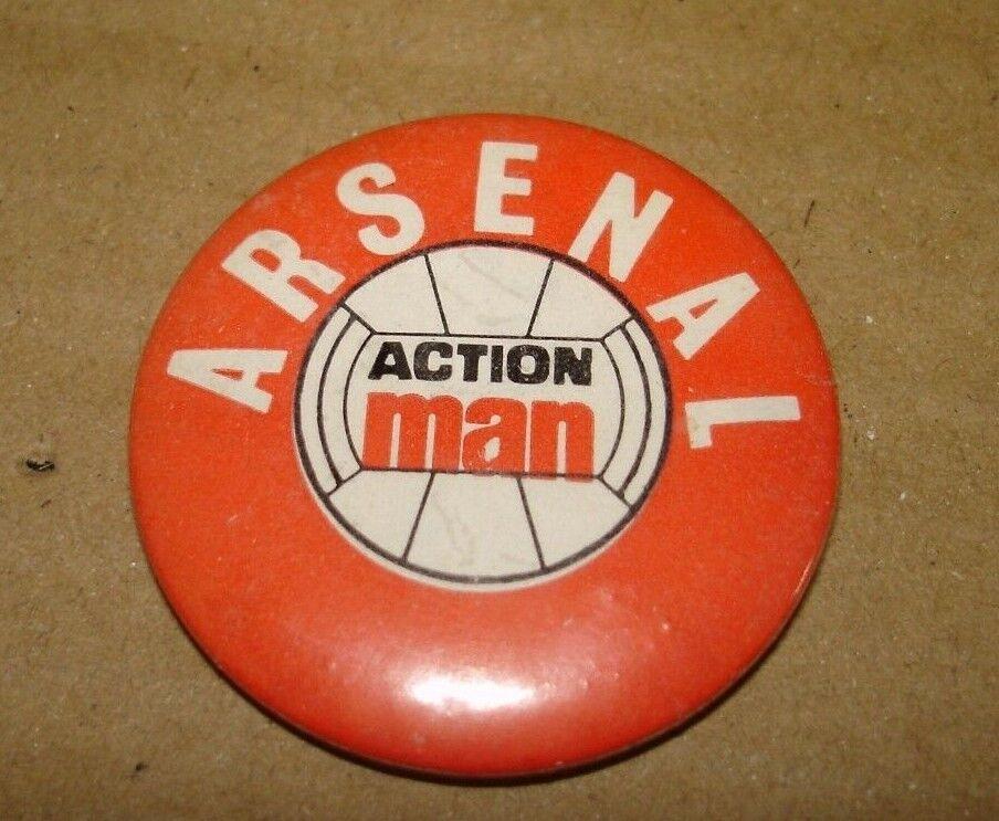 Genuine originale anni 1970 ACTION MAN Arsenal football badge Hong Hong Hong Kong 5d2759