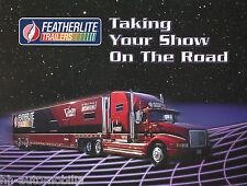 Prospekt brochure Featherlite Showfahrzeuge u.a. Anhänger USA 1997 prospectus