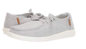 Details about WOMEN'S HEY DUDE CHAMBRAY LIGHT GREY WENDY COMFORT SHOES
