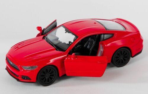 Spedizione LAMPO FORD MUSTANG GT 2015 ROSSO//RED Welly Modello Auto 1:34 NUOVO /& OVP