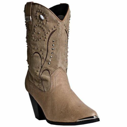 In 588 West Stivali Donna Del Cowboy Castagna Dingo Di Pelle wqSXf8T