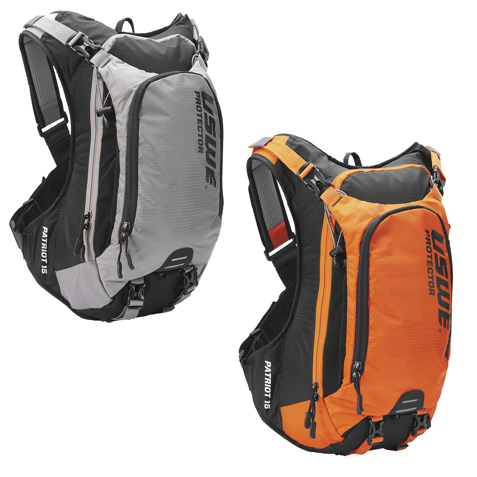 USWE Patriot 15 Backpack 15L, CE Back Protection, Bounce Free NDM™ Technology