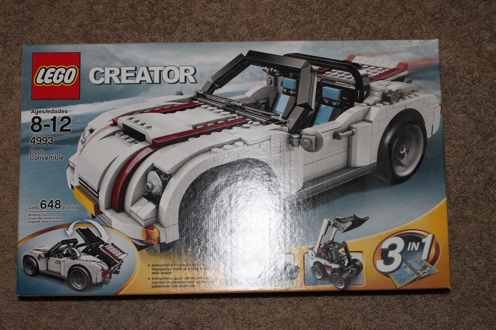 NIB  Lego Creator:   4993 Cool Convertible New Sealed 3 in 1