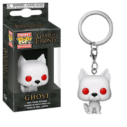 Game of Thrones - Ghost Pocket Pop! Keychain NEW Funko