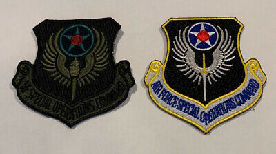 2 x AFSOC MAJCOM Patches USAF Special Operations Combat Controller Iraq
