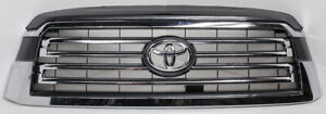 OEM Toyota Sequoia Upper Grille Magnetic Gray 53101-0C090 Tab Missing