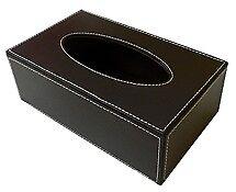 Kosmetiktuchhalter Kosmetiktücherbox Papiertücherbox Dunkelbraun