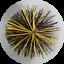 thumbnail 1 - CFC051 250mm/10 inch dia Black/Yellow Polypropylene PRO Flue Brush 200mm long
