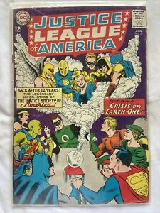 Justice League of America #21/Silver Age DC/Re-Intro JSA.- IN CASE